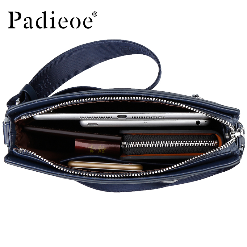 Padieoe Top Split Leather Male Bag Famous Brand Men s Travel Bag High  Quality Flap Bag for Phone Casual Crossbody Bag handbag-in Crossbody Bags  from Luggage ... 2da395b33d1fc
