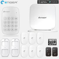 Etiger V2 GSM Alarm System Security Auto Dial APP Wireless Home Burglar Alarm Motion Sensor Security Alarm