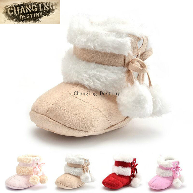 036cfc7dd55e Cute Snow Cotton Warm 4 Color Infant Soft Soled Newborn Winter Baby  Heart-shaped Sports