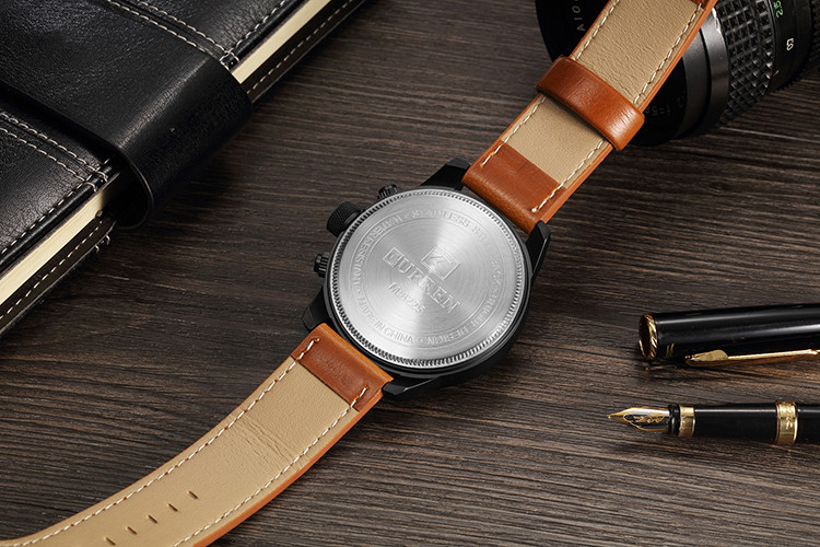 HTB1HL63cA9E3KVjSZFGq6A19XXa4 CURREN Top Brand Luxury Mens Watches Male Clocks Date Sport Military Clock Leather Strap Quartz Business Men Watch Gift 8225