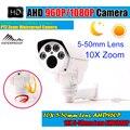 HD 1.3MP/2MP AHD 5-50mm PTZ Camera 1080P Waterproof Outdoor Bullet IR 60m 4Pcs Array Leds Coaxial or RS485 Control CCTV Camera
