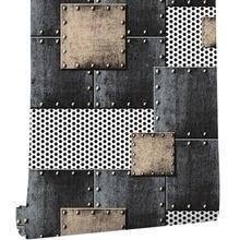 HaokHome современные обои из ПВХ с тяжелой текстурой, железные синие/черные/серебряные обои для дома, гостиной, спальни, офиса, бара, украшения стен