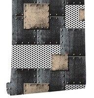HaokHome Modern Heavy Texture Loft PVC Wallpaper Iron blue/Black/Silver home living room bedroom office bar wall decoration