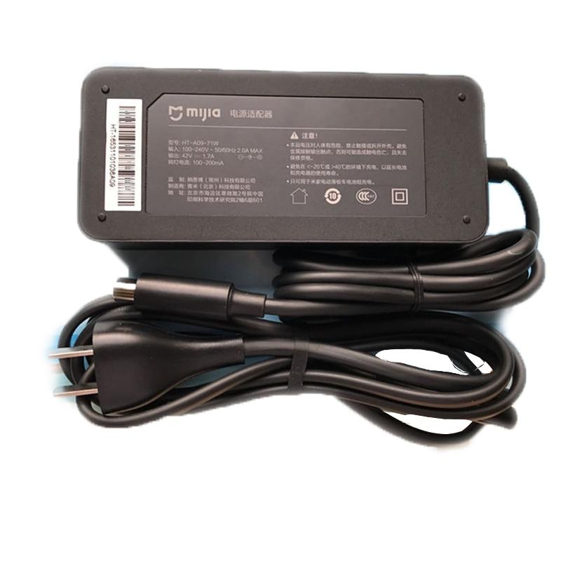 Mijia M365 Электрический Skatebaord адаптер 42в 1.7 в зарядное устройство США Plug для Электрический Скутер велосипед части аксессуары Оригинальные