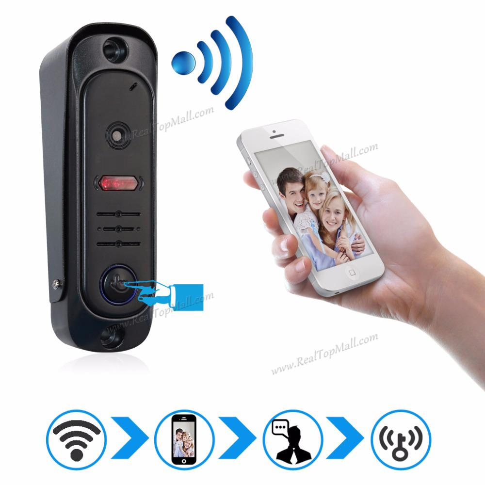 Two way communication Wireless WIFI IP Doorbell Support Monitoring, unlocking and talking by mobile phone
