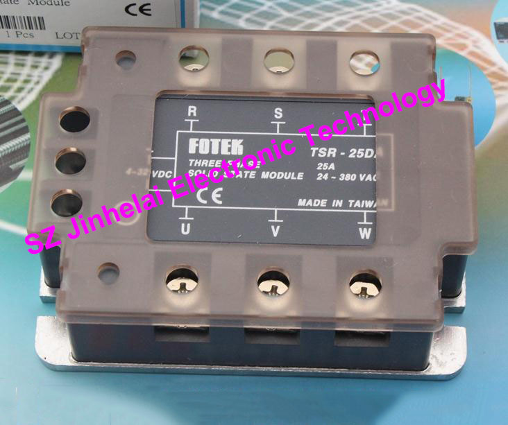 TSR-25DA  New and original FOTEK  3-phase solid state relay,3-Phase Solid state module  25A серьги tesoro tsr 54105