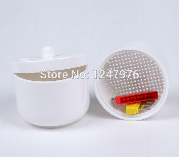 Matériaux dentaires boîte en plastique boîte de désinfection boîte blanche de produits en verre