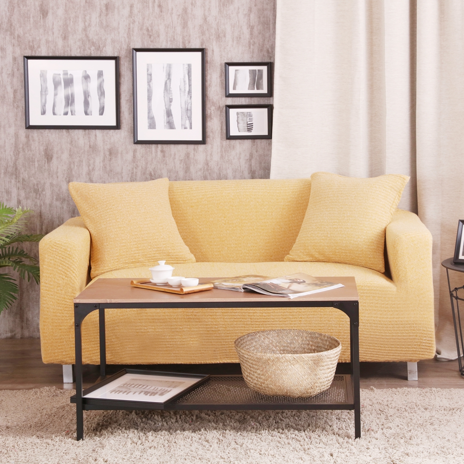 Yellow Stretch Furniture Covers Living Room Anti Dirty