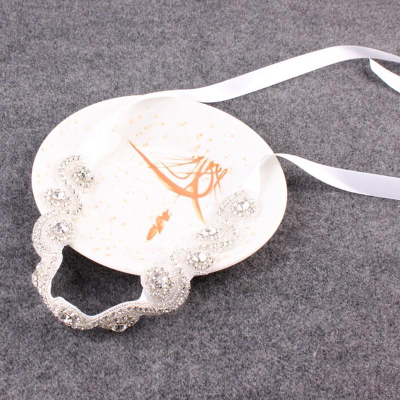 Bridal Hair Accessories Vintage Inspired Rhinestone Headband Crystal Pearls Wedding Headband Women Forehead Hair Jewelry 1 PC 4