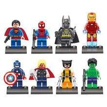 8 шт. классические Звездные Супергерои marvel Мстители M022-29 DC строительные блоки фигурки наборы Модель Кирпичи игрушки для детей