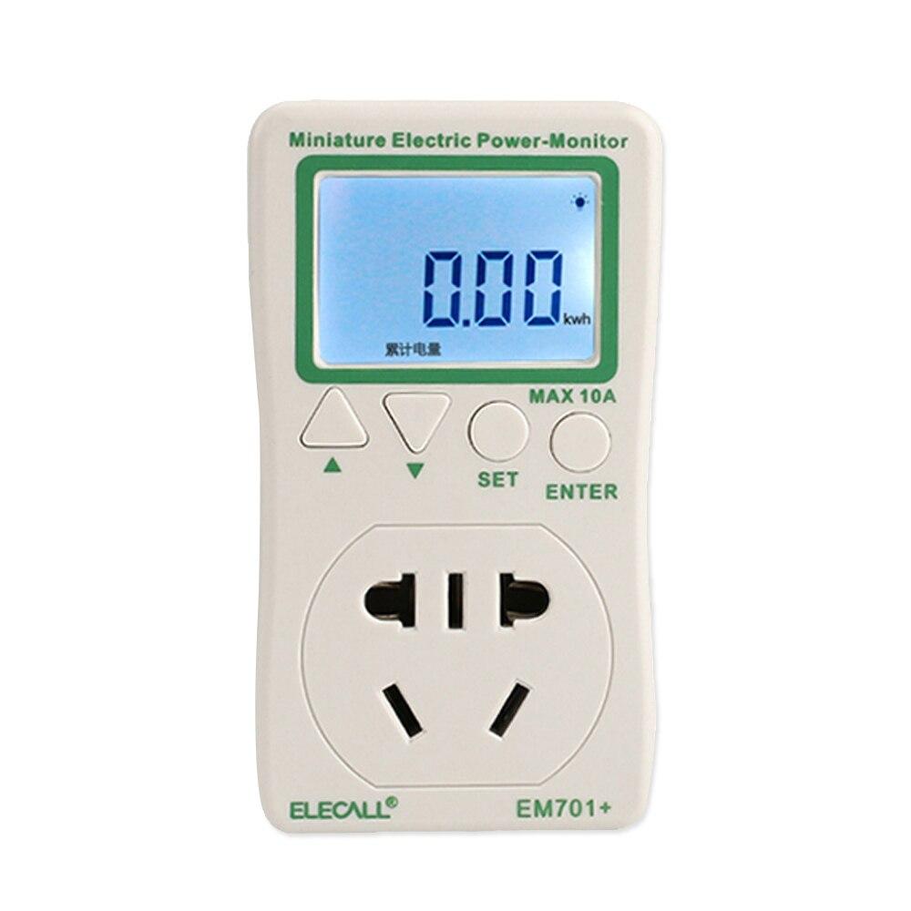 Digital Power Monitor : Elecall em lcd digital energy power meter watt volt