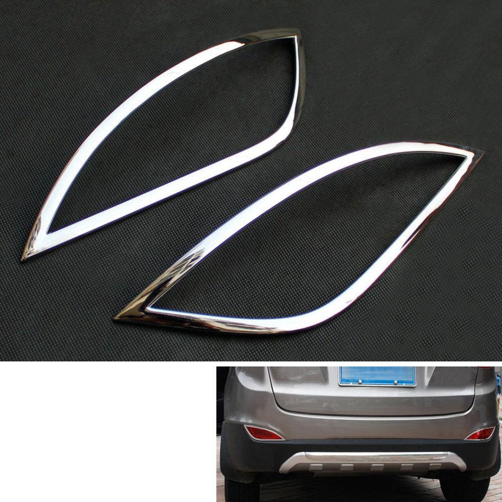 BARBECUE @ FUKA Chrome ABS Arrière Feu Antibrouillard Couvercle De La Lampe Cadre Garniture Car Styling Autocollant Fit Pour Hyundai Tucson IX35 2010-2012