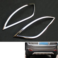 BBQ@FUKA Chrome ABS Rear Fog Light Lamp Cover Frame Trim Car Styling Sticker Fit For Hyundai Tucson IX35 2010-2012