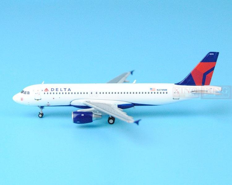 New: GeminiJets GJDAL1540 America A320-200 N374NW 1:400 Delta commercial jetliners plane model hobby