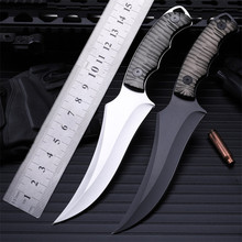Outdoor Self-defense Field High Hardness Saber Wilderness Survival Fruit Knife Small Straight Cutting Tool Aluminium Handle hot sale outdoor camping with small straight cutting tool self defense wilderness survival hunting knife high hardness annatto