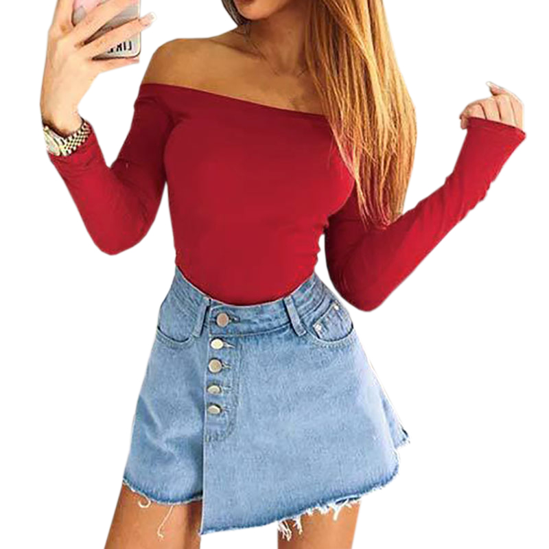 Winter Rompers Long Sleeve Bodycon Sexy Slash Neck Bodysuits Women   Jumpsuit   Autumn Off Shoulder Body Top Mujer Club GV942