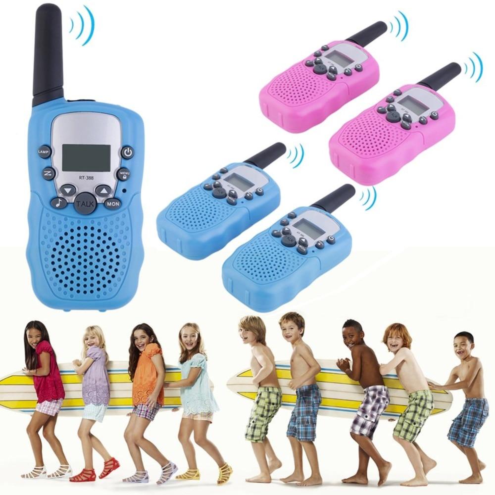 2pcs Walkie Talkie Kids Toys 0.5W 22CH Two Way Radio Wireless Portable Radio Transmitter For Kids Children Gift Outdoor Fun Toys