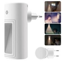 BORUiT capteur enfichable LED veilleuse blanc chaud lampe de nuit pour chambre bébé chambre capteur couloir escalier lumière ue/US/UK Plug
