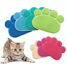 Multi-purpose Pet Dog Puppy Cat Feeding Mat Pad Cute Paw PVC Bed Dish Bowl Food Water Feed Placemat Wipe Clean Pet Supplies