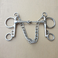 Top Quality English 130mm Horse Bits Stainless Steel Butterfly Bit Horse Riding Equestrian Cheval Racing Paardensport
