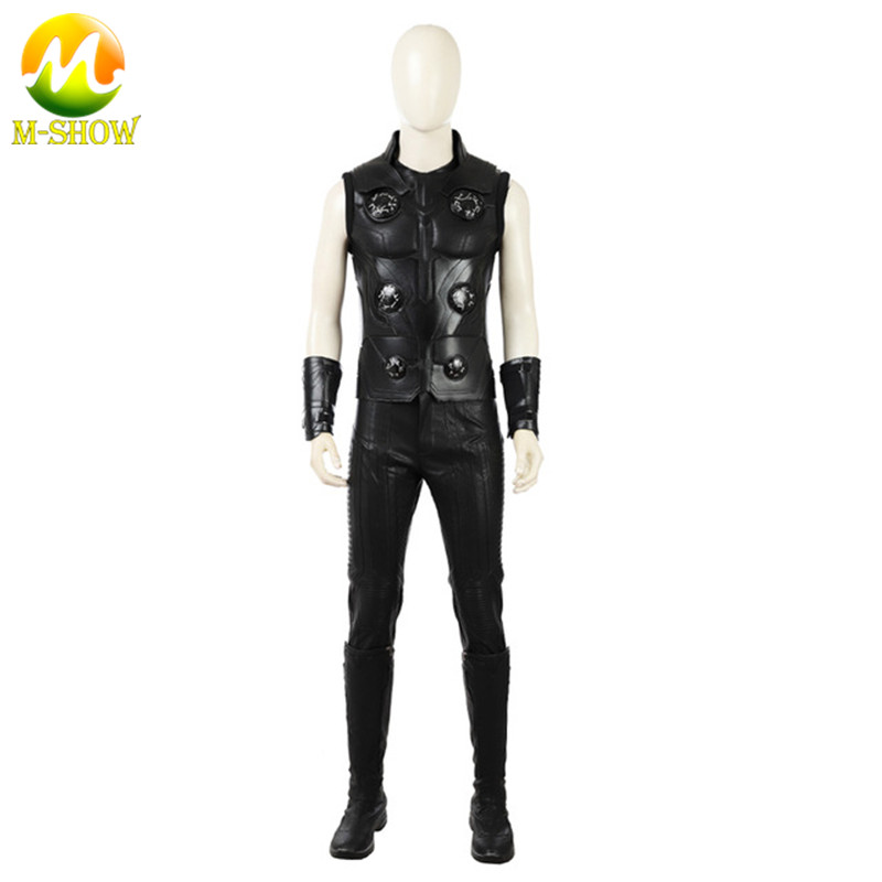 Thor Costume Superhero Halloween Cosplay Suit Avengers Infinity War Thor Cosplay Costume Custom Made Thor Cosplay Leather Suit