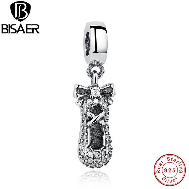 Christmas gift 925 sterling silver ballet slipper pendant charm christmas gift 925 sterling silver ballet slipper pendant charm fit pan bracelet necklace diy jewelry mozeypictures Image collections