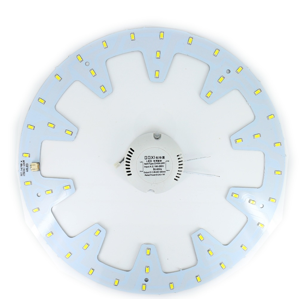 diy 24W LED Ring PANEL Circle Light LED Round Ceiling board the circular lamp board SMD 5730 48 Leds  + power driver AC 180-265V kinfire 12w circular 980lm 6500k 60 smd 3528 led white light ceiling lamp w driver ac 85 265v