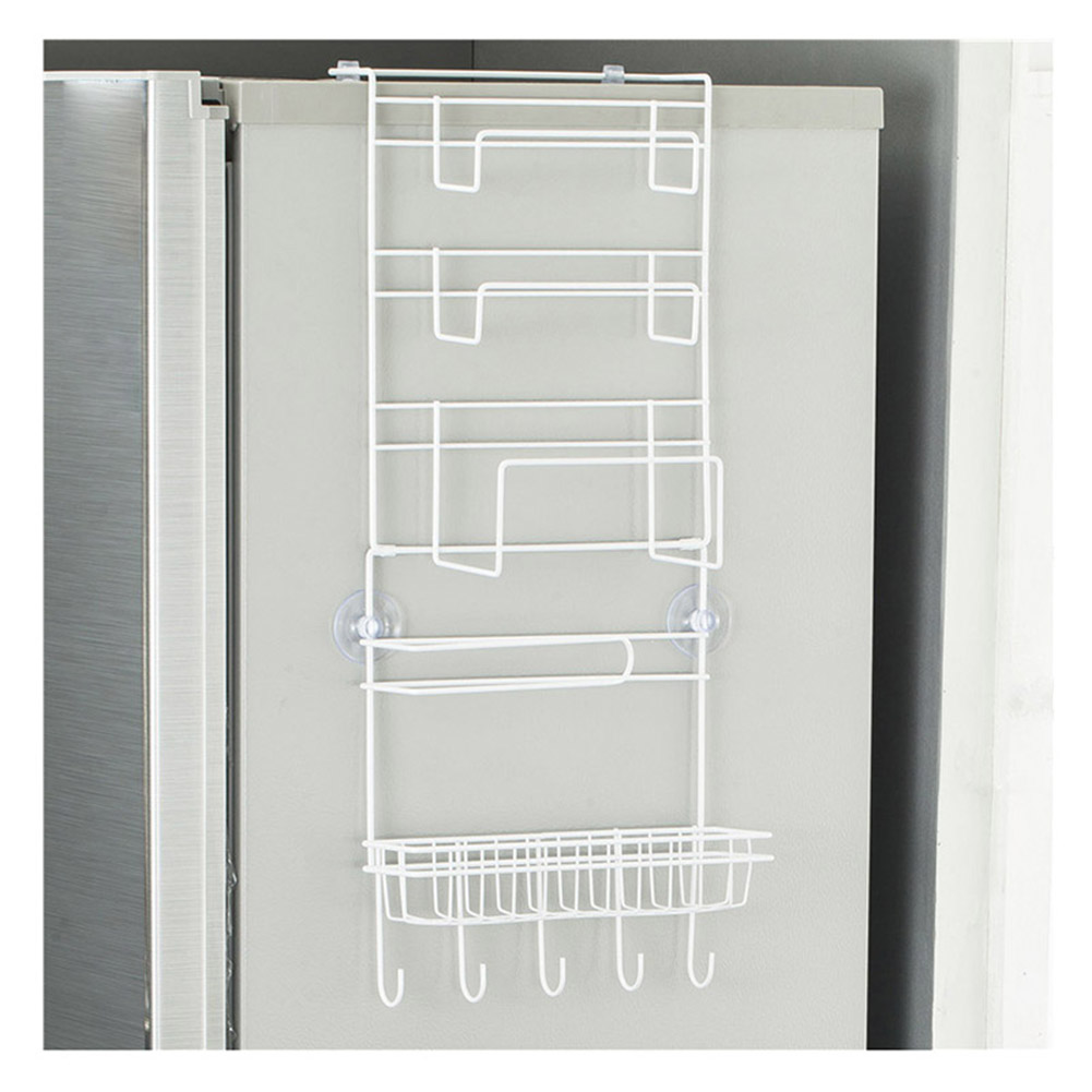 Refrigerator Side Wall Multi-function Hanger Kitchen Hanging Storage Rack Home Storage Supplies MU