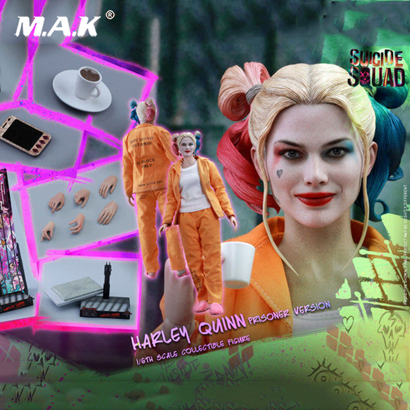Hot Toys MMS407 Suicide Squad 1/6th scale Harley Quinn (Prisoner Version) Collectible Figure full set with seemless body
