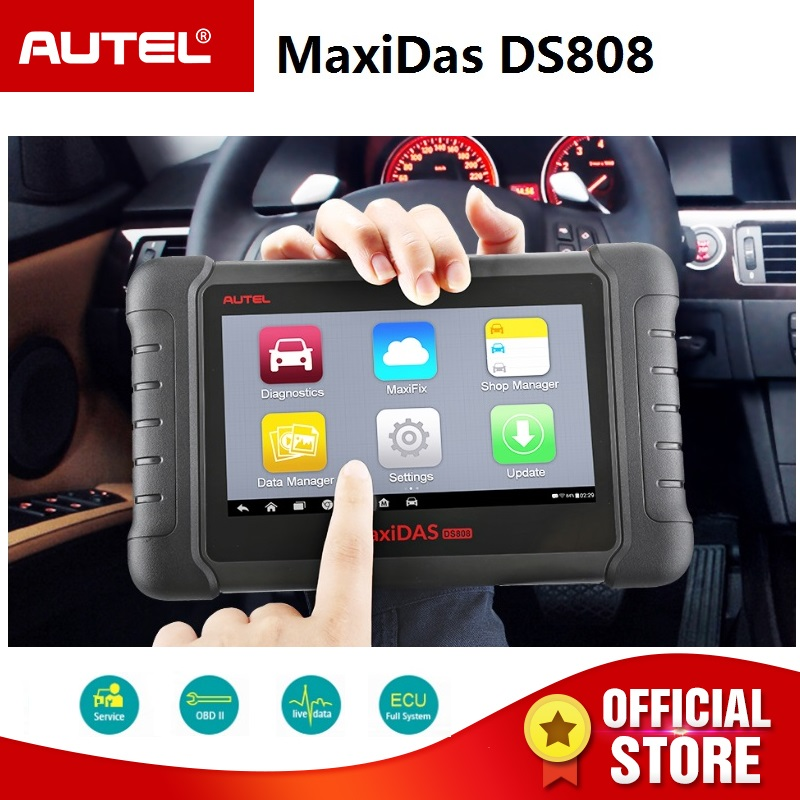 Autel MaxiDAS DS808 Automatische Diagnose Scanner/Werkzeug Für Alle Elektronische Systeme Funktionen von Codes, Live daten, aktive Test etc.