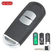 Keyecu Remote Key Fob 2 Button 433Mhz ID83 Chip for Mazda 3 6 MX 5 FCC