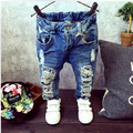 (A338)Children Broken Hole Pants Trousers 2015 Baby Boys Girls Jeans Brand Fashion Autumn 2-7Yrs Kids Trousers Children Clothing