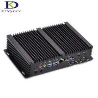 Venta Kingdel barato Windows 10 fanless mini industrial computadora Intel i5 4200u Dual Core 2 puertos COM