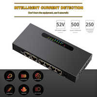 6 Port Network Enthernet Switch 48V POE Switch 10/100Mbps IEEE 802.3 af/at Switch for IP Cameras Wireless AP CCTV Drop Shipping