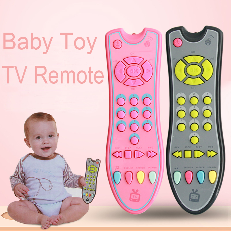 Baby Toys Music Mobile Phone TV Remote Control Early Educational Toys 3 languages Electric Numbers Remote