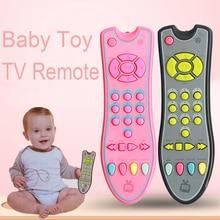 Детские музыкальные игрушки мобильный телефон ТВ пульт дистанционного управления Ранние развивающие игрушки 3 языка электрические номера дистанционного обучения машина подарки