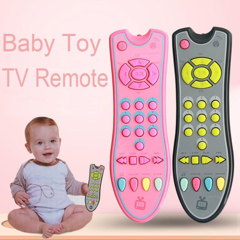 Juguetes de música de Teléfono Móvil TV Control remoto | Juguetes Educativos 3 idiomas eléctrico números de aprendizaje a distancia de regalos