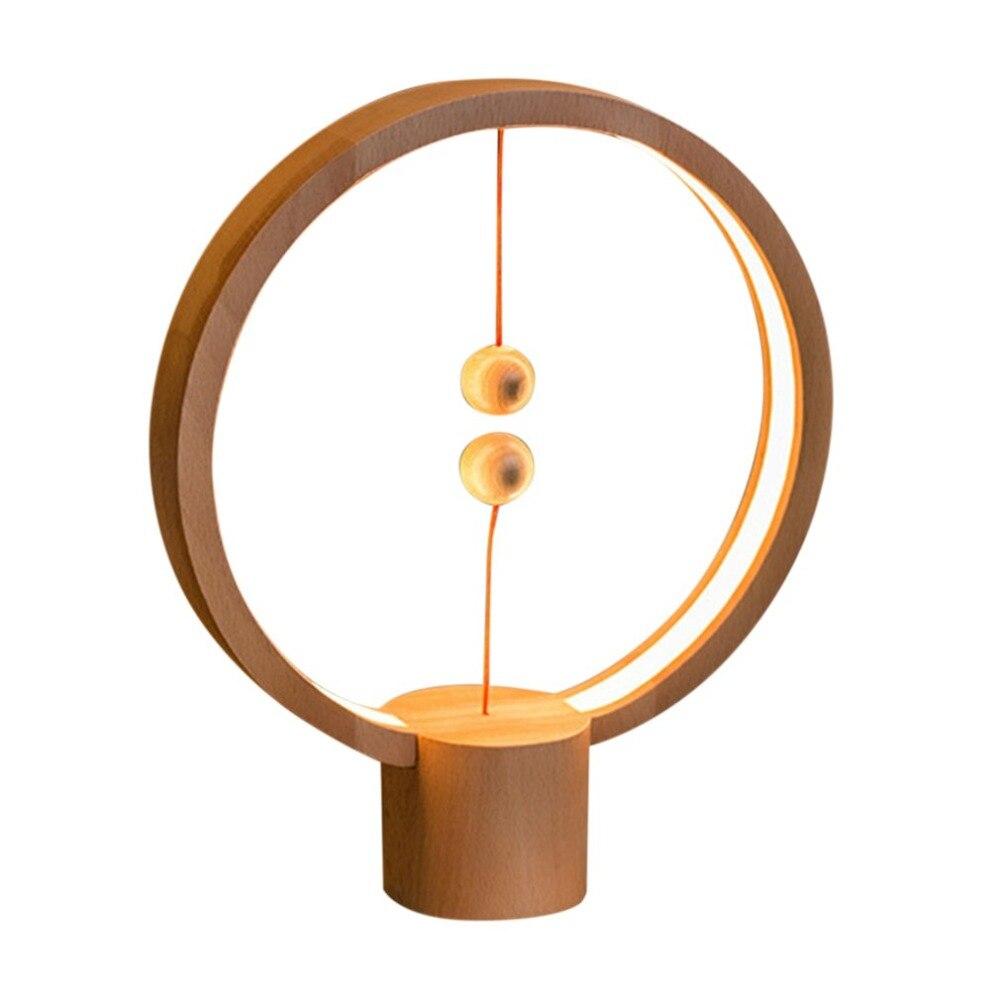 Rond Heng Balance lumière magnétique interrupteur lampe USB charge lampe de bureau lumière LED de décoration pour la maison lampe chambre bibliothèque veilleuse
