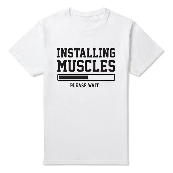Muscoli T Di L\'installazione Mens Shirt Stampato Divertente O6qwx