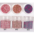 10 ml de aço Caviar Beads Manicure 3D Glitter Nail Art decoração