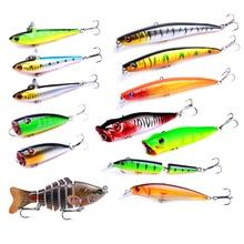 Promotion Many Fishing Lure 1pcs Hot Models Minnow Bait Pencil Popper Swimbait for Sale Hard Plastic