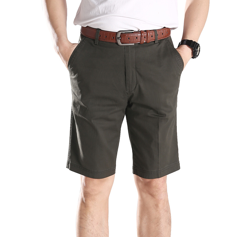 Mens Shorts New Summer Casual Cotton Beach Shorts Joggers Trousers Shorts Male Knee Length Short Pants Cargo Overalls Plus-Size