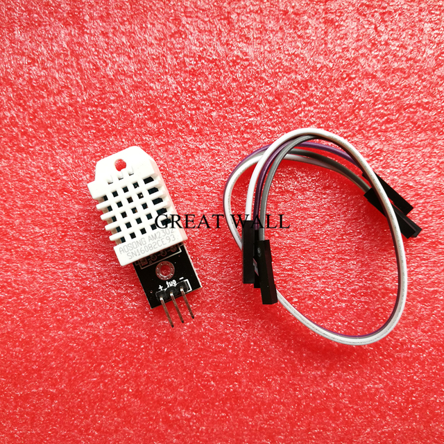 1pcs  DHT22 Digital Temperature and Humidity Sensor AM2302 Module+PCB with Cable B34