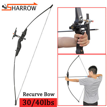 1set 30/40lbs Recurve Bow And Sight Set 52inch Takedown Straight Bow Nylon Bow Riser For Hunting Shooting Archery Accessories