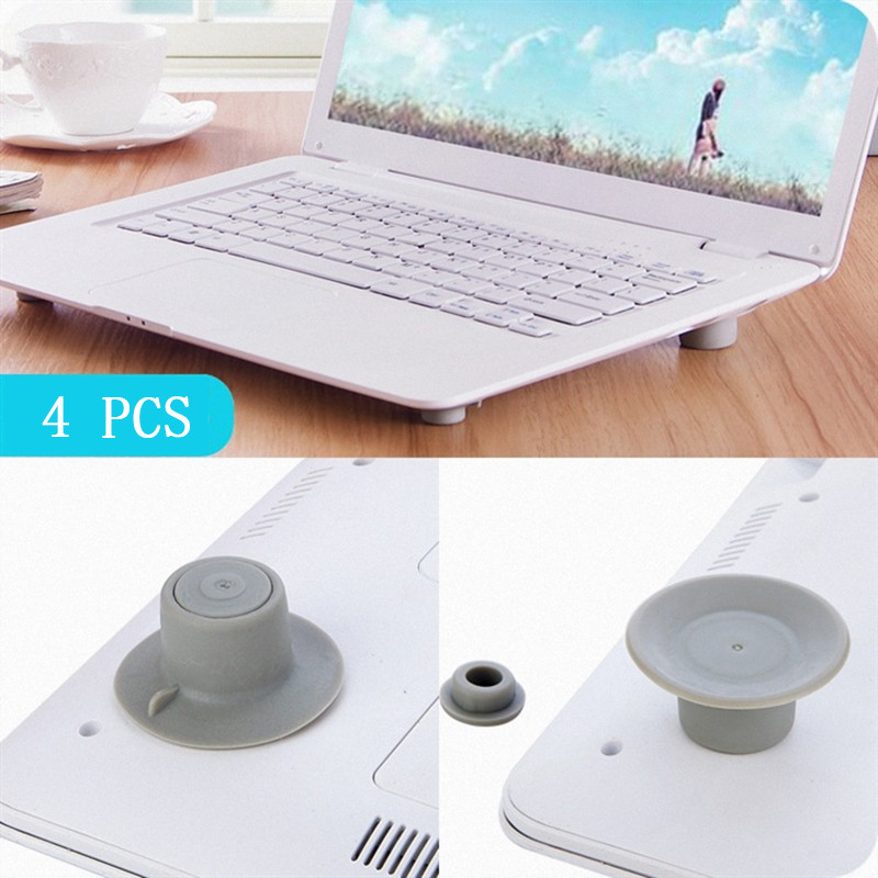 4Pcs Laptop Foot Pad Cooling Pad Rubber Feet Heat Reduction Stand Cooler Relieve Wrist Fatigue for Notebook Laptop