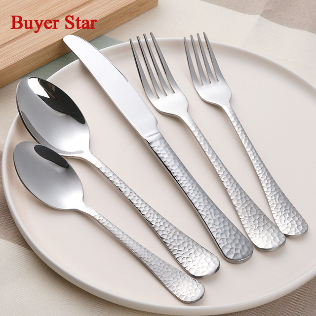 Aliexpresscom Buy 5pcsset 1810 Stainless Steel Flatware Sets