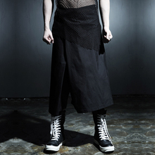 Male trousers male harem pants culottes male costume men's clothing aprons fashion clothes