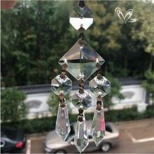 110 мм, ручная работа, великолепная Хрустальная свеча, люстра, стеклянная подвеска, призма, Свадебный декор, Ловец Солнца, искусство, украшение для дома, сосулька