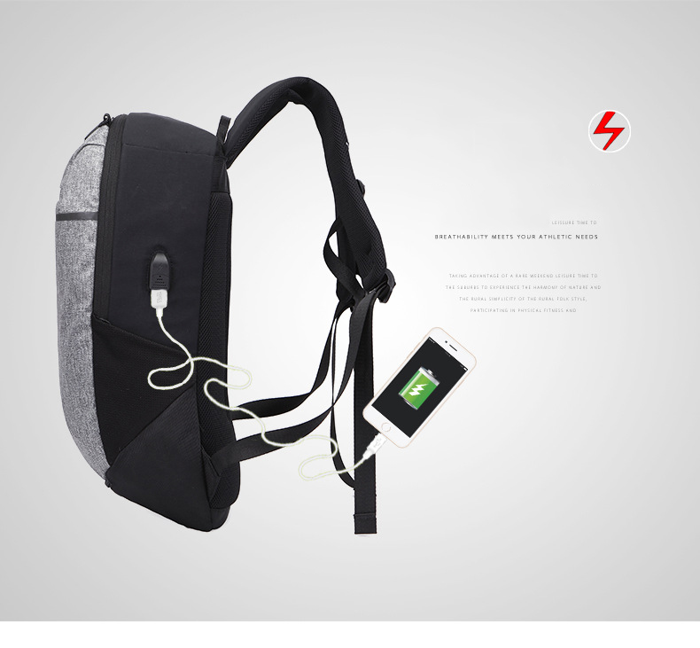 HANTAJANSS Laptop Backpacks for men women USB Charging ball net waterproof  BackPack Unisex School bag Rucksack Travel Bags