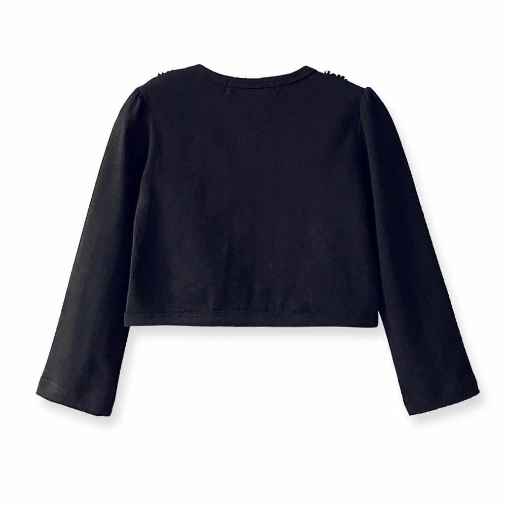Enfants Vêtements Bébé Filles décontracté haut tendance Printemps Coton Dentelle Princesse Cardigan Boléro Haussement D'épaules hauts Vêtements De Fête Pour Princesse